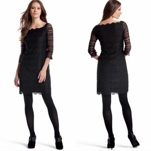Black lace dress, 3/4 length sleeves